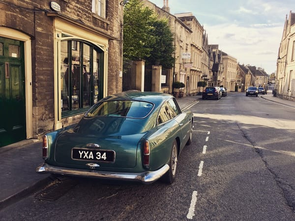 Classic Aston Martin on Tetburys main street- Outreach.jpg